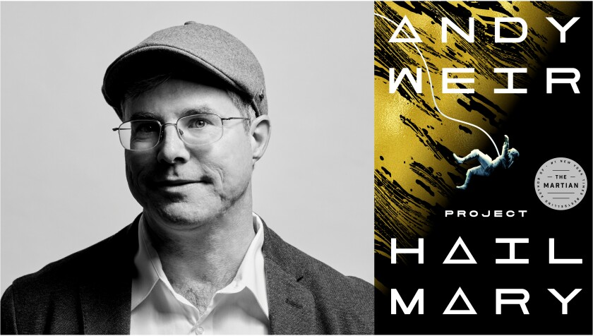 "Author Andy Weir and his new book, ""Project Hail Mary"""
