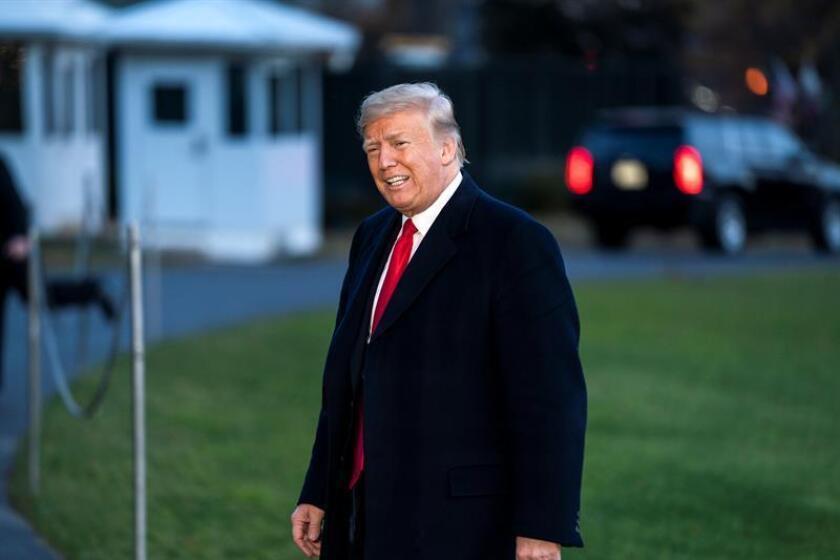 US President Donald J. Trump returns to the White House from Kansas City in Washington, DC, USA. EFE/EPA