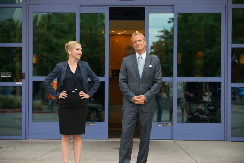 """Attorney Kimberly Wexler (Rhea Seehorn) tries to regain the trust of her boss Howard Hamlin (Patrick Fabian) by drumming up new business for their law firm on """"Better Call Saul."""""""
