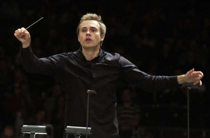 Vasily Petrenko conducts the Los Angeles Philharmonic at the Hollywood Bowl on July 26, 2011.