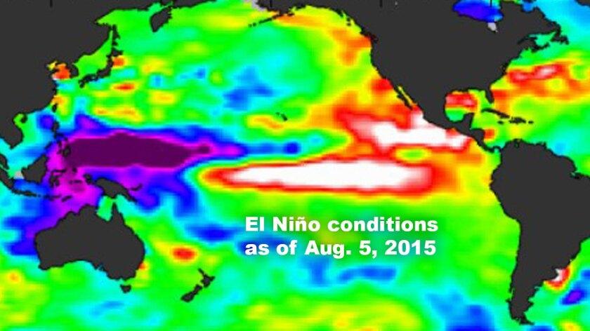 El Niño conditions as of Aug. 5, 2015
