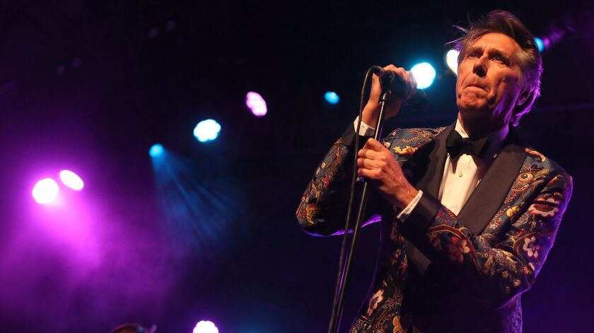 Bryan Ferry will perform at the Greek Theatre on Thursday.