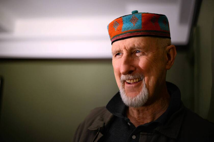 Actor James Cromwell in the Gramercy Hotel in Manhattan, NY.
