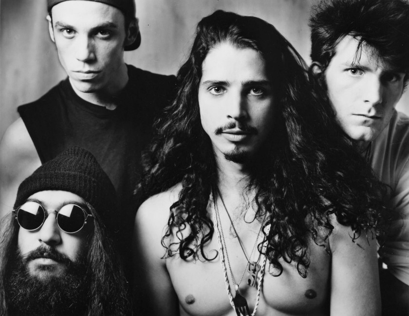 Soundgarden, with San Diego-born drummer Matt Cameron top left, is a nominee for the 2020 Rock & Roll Hall of Fame inductions. Lead singer Chris Cornell, third from left, committed suicide in 2017. The above photo shows the band in the early 1990s.