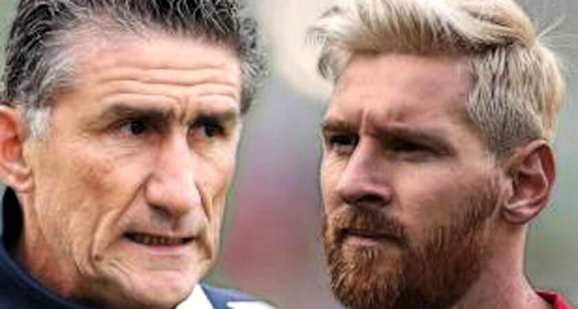 El entrenador Edgardo Bauza (i) tiene un reto importante con Messi.