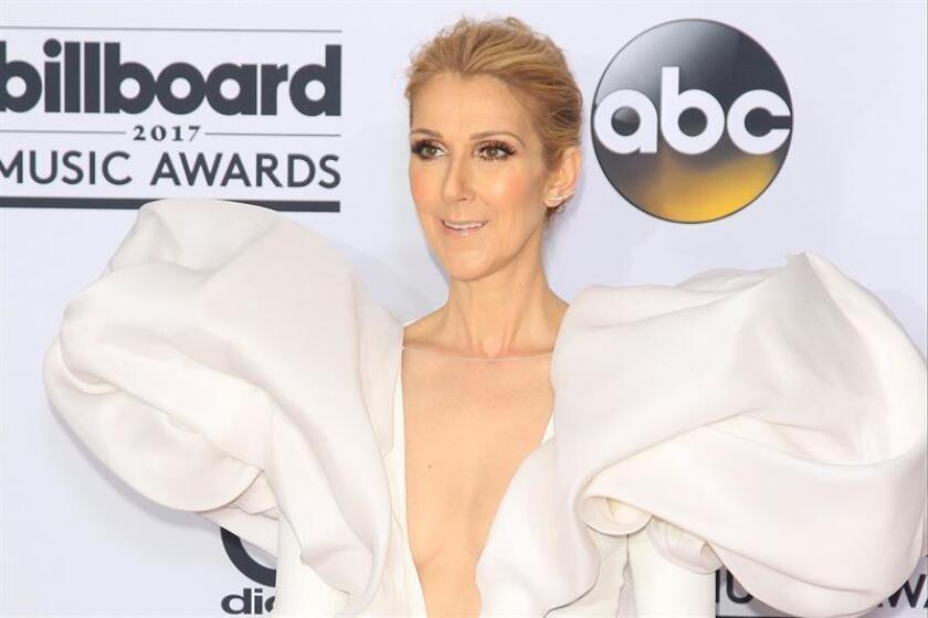 La cantante canadiense Celine Dion posa en los premios Billboard en Las Vegas (Estados Unidos), el 21 de mayo de 2017. EFE/Archivo