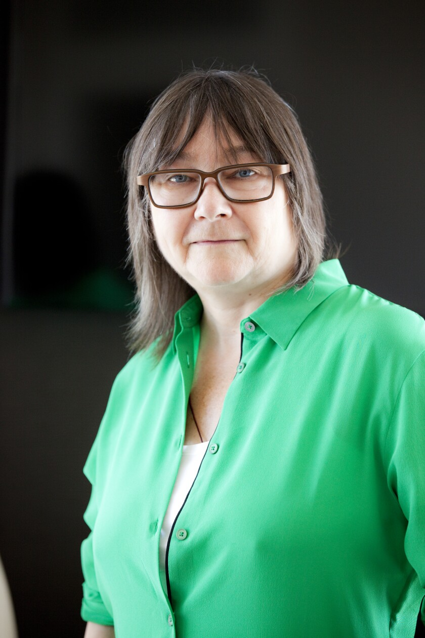 Ali Smith, photographed in Milan, Italy, in July 2018.