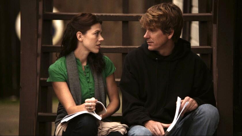 "Elizabeth Roberts (Amber) and Rik Swartzwelder (Clay) in ""Old Fashioned."""