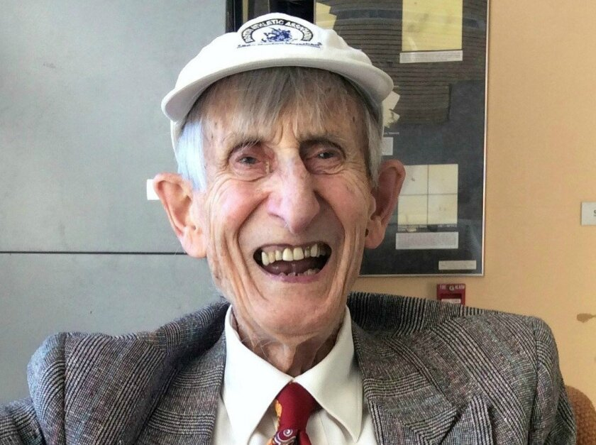 Physicist-mathematician Freeman Dyson, photographed in the physics department at UC San Diego in 2016.