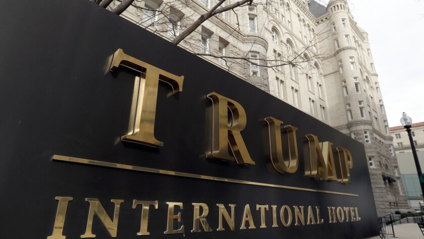 FILE - In this Dec. 21, 2016, file photo, The Trump International Hotel at 1100 Pennsylvania Avenue
