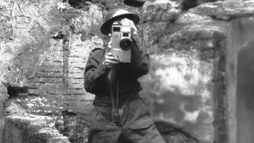 """A scene from """"Night Will Fall,"""" a documentary on an Alfred Hitchcock-directed war documentary."""