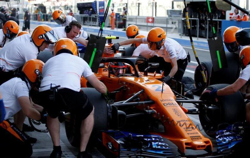 El piloto belga de Fórmula Uno Stoffel Vandoorne, de la escudería McLaren. EFE/EPA