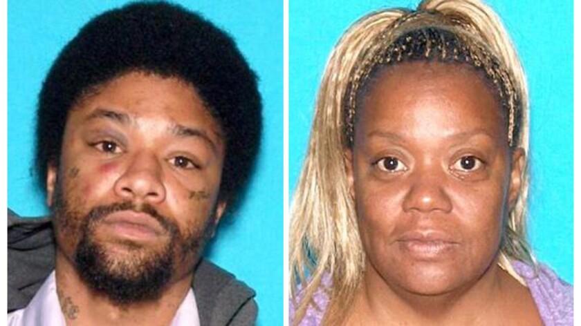 Darrell Jones, left, was arrested Sunday on suspicion of killing his mother, Barbara Crumity, in San Bernardino, police said.