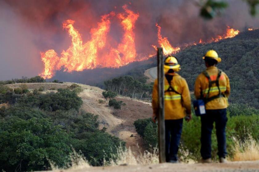 El incendio declarado esta mañana en el norte de California ha crecido a gran velocidad a lo largo del día, pasando de 2.000 hectáreas afectadas a más de 7.000 en tan sólo seis horas, y ha forzado a desalojar a 20.000 personas, informaron las autoridades del estado. EFE/ARCHIVO