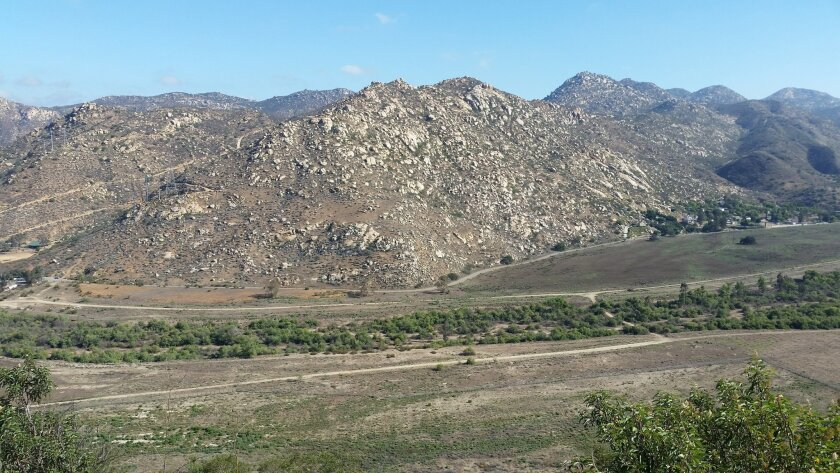 The El Monte Valley in Lakeside as seen from the Lake Jennings Campground.