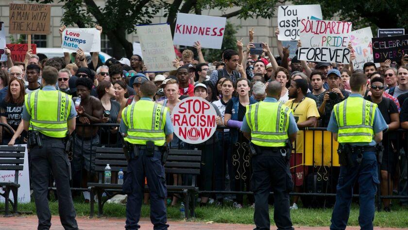 Unite the Right rally in Washington DC, USA - 12 Aug 2018