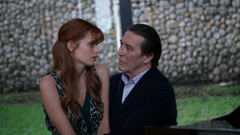 "(L-R) - Abbey Lee as Elizabeth and Ciaran Hinds as Henry in Sebastian Gutierrez's ""ELIZABETH HARVEST"