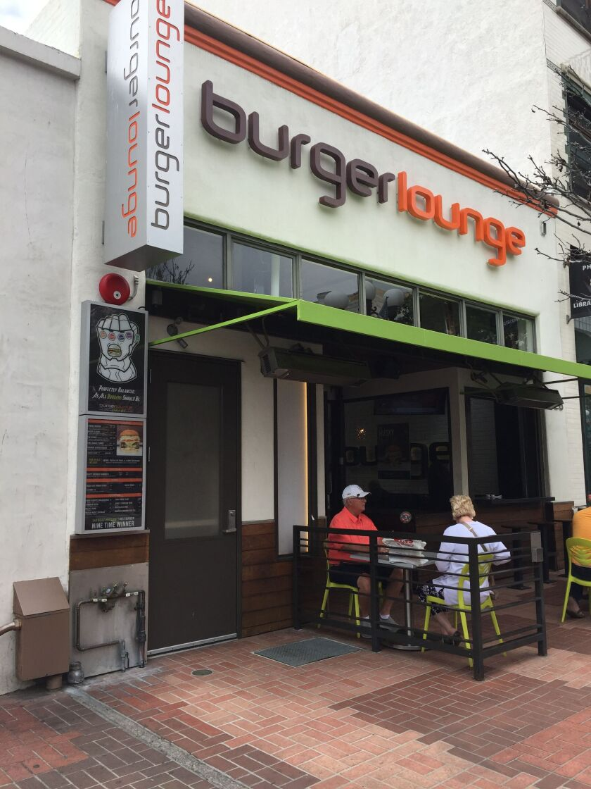 Burger Lounge in the Gaslamp Quarter.