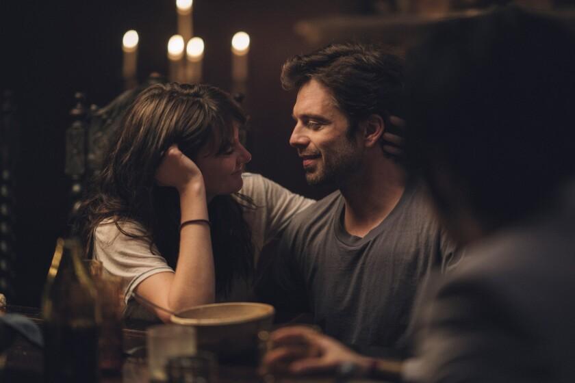 """Shailene Woodley and Sebastian Stan in the movie """"Endings, Beginnings."""""""