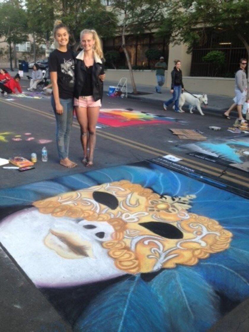 Stephanie Foster and Kaitlin Wheeler with their Italian 'masterpiece.' Courtesy