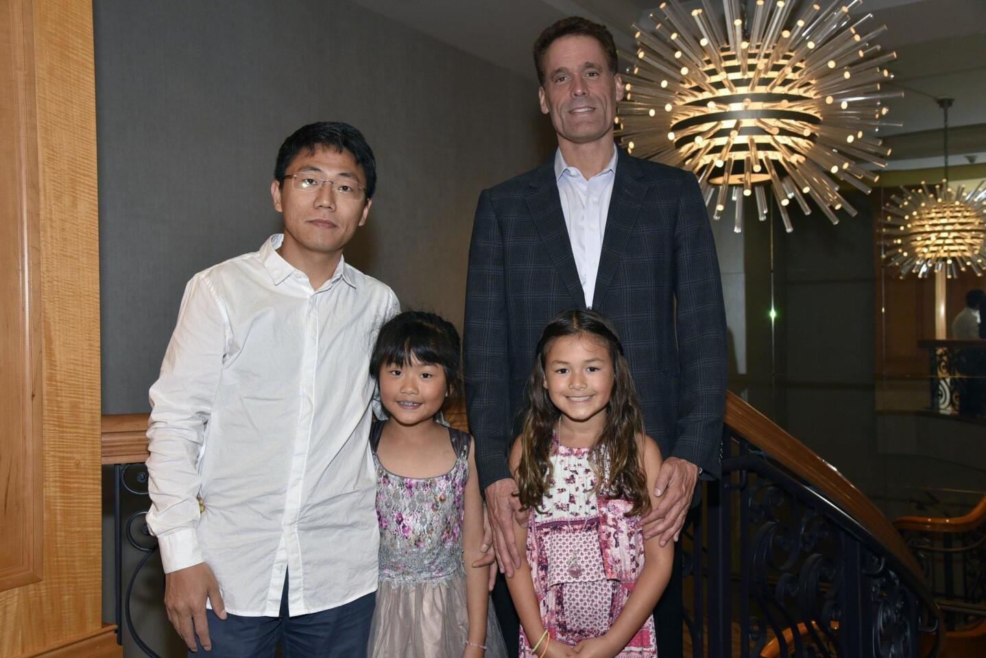 Jianle Chen with Jessie, Daniel Cramer with Laramie