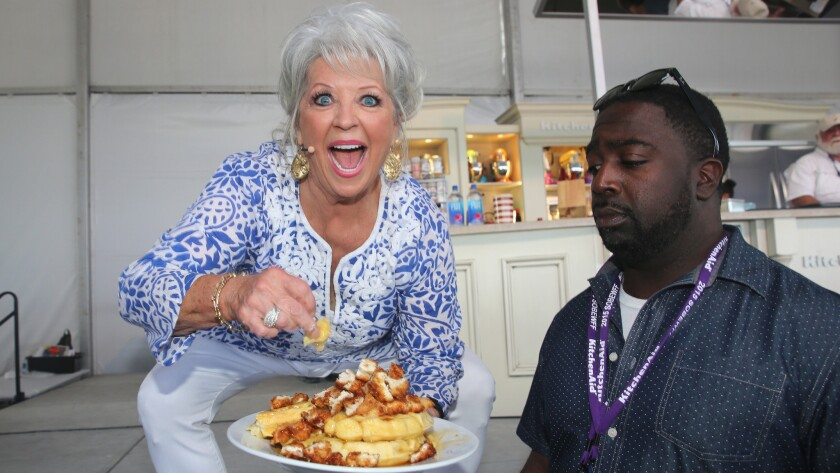 Chef Paula Deen, onstage during the 2015 Food Network & Cooking Channel South Beach Wine & Food Festival in Miami Beach, has a new book deal.
