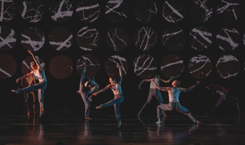 "Invertigo Dance Theatre in ""Formulae & Fairy Tales,"" with projection designs by NightLight Labs"