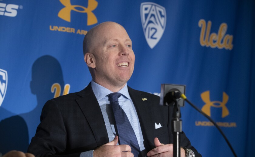WESTWOOD, CALIF. -- WEDNESDAY, APRIL 10, 2019: Mick Cronin, the new UCLA Men?s Head Basketball Coac