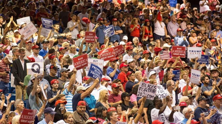 US President Donald J. Trump rally in Tampa, Florida, USA - 31 Jul 2018