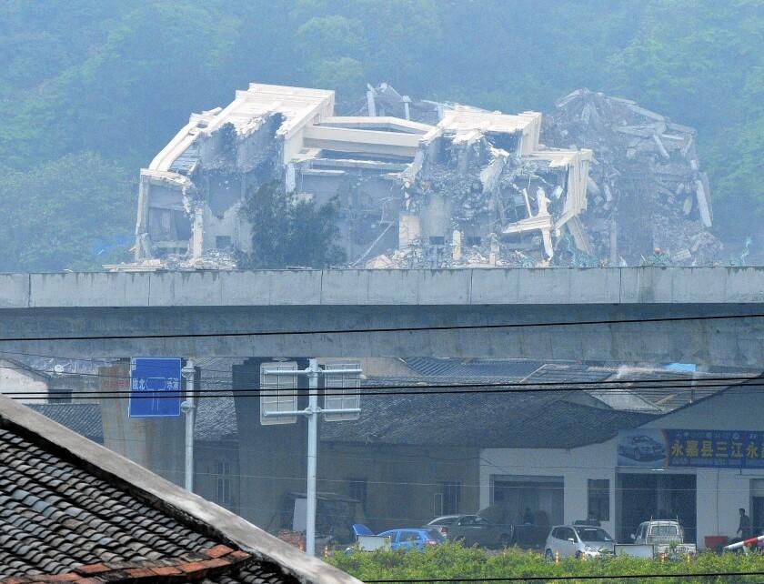 Three Rivers Church demolition in Wenzhou, China