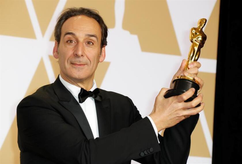 Alexandre Desplat, winner of the Best Original Score Award for 'The Shape of Water', poses in the press room during the 90th annual Academy Awards ceremony at the Dolby Theatre in Hollywood, California, USA, 04 March 2018. EFE