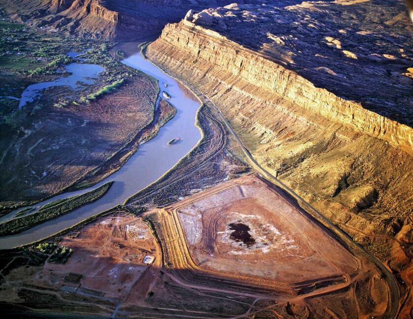 Atals Uranium Mill and Colorado River