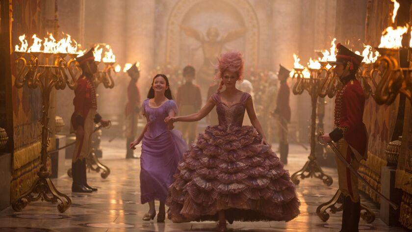 "(L-R) - Mackenzie Foy is Clara and Keira Knightley is the Sugar Plum Fairy in Disney?s ""THE NUTCRACK"