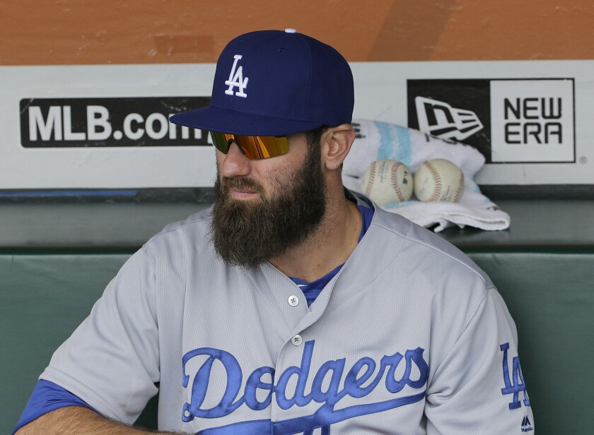 Scott Van Slyke is put on the disabled list by the Dodgers
