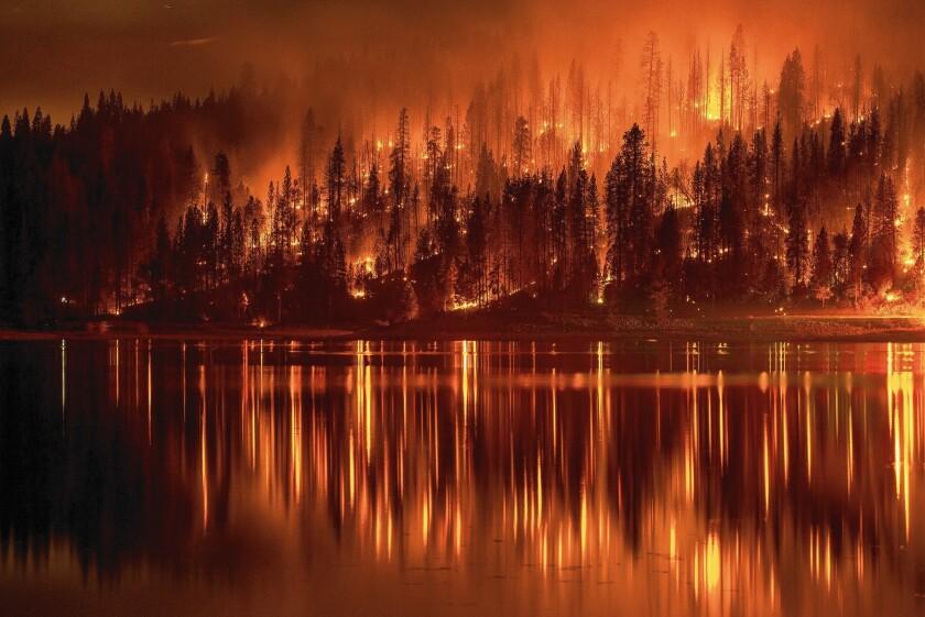 Bass Lake wildfire