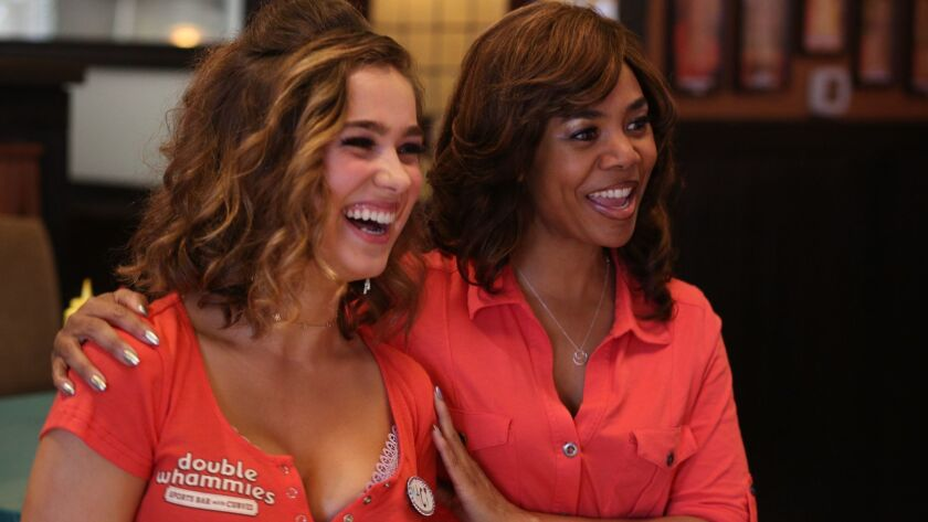 "(L-R) - 4. Haley Lu Richardson and Regina Hall in ""SUPPORT THE GIRLS,"" a Magnolia Pictures release."