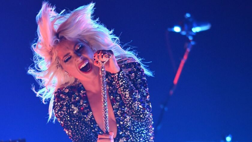 2019 grammys lady gaga unleases her fierce pop diva for shallow performance los angeles times 2019 grammys lady gaga unleases her