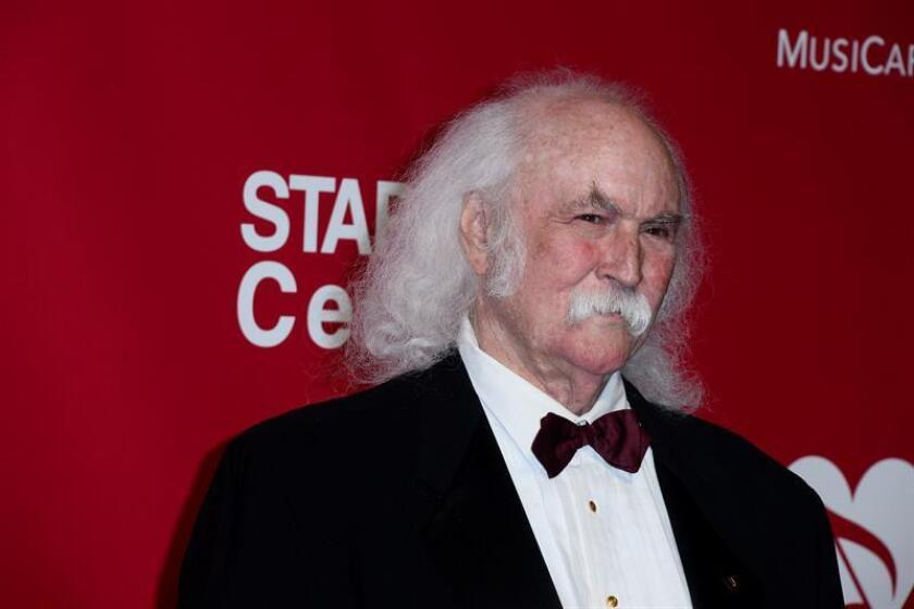 US singer David Crosby arrives for the 2016 MusiCares Person of the Year benefit gala dinner and concert in Los Angeles, California, USA, 13 February 2016. EFE/EPA/File