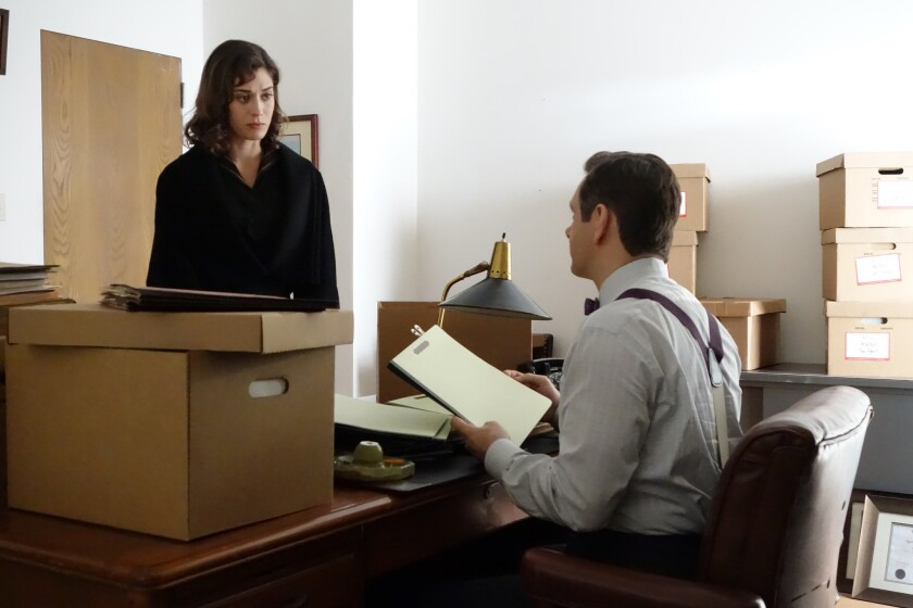 """Virginia Johnson (Lizzy Caplan) joins Dr. William Masters (Michael Sheen) at a hospital primarily serving African-American patients on """"Masters of Sex."""""""