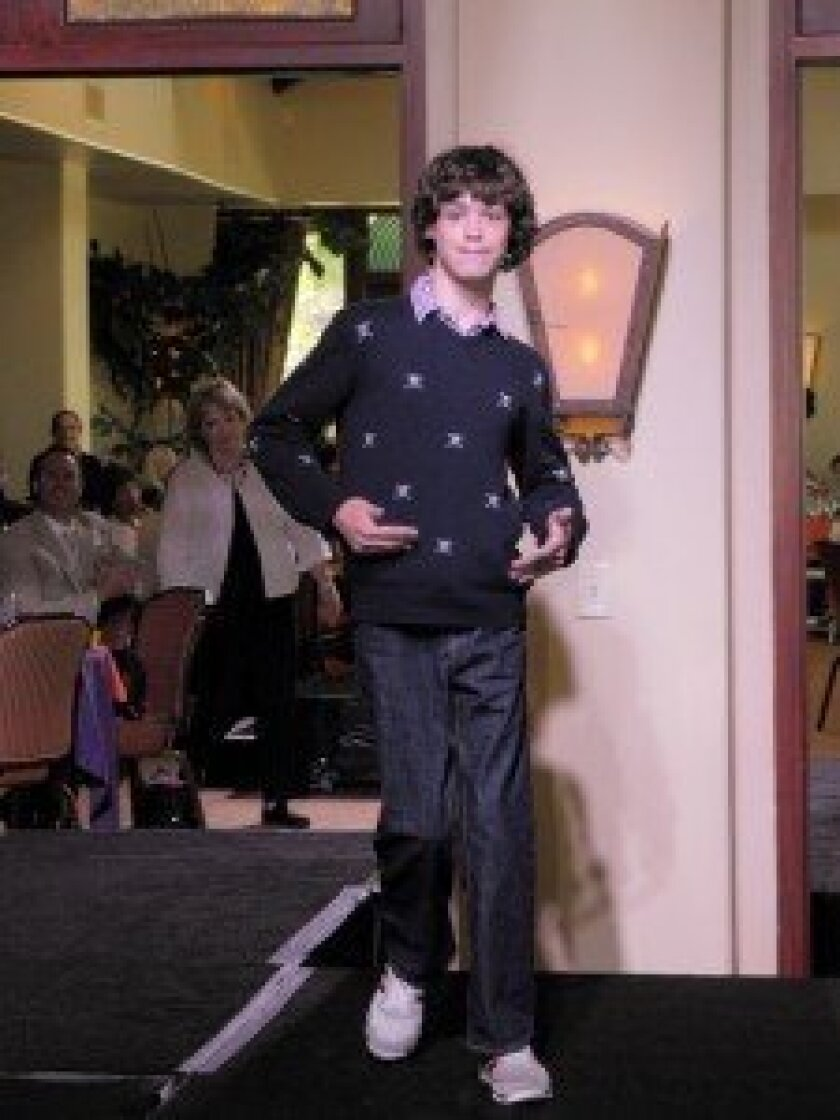 William Kellogg modeling fashions from The Gap at the 2012 event.