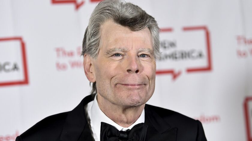 Stephen King, shown attending the 2018 PEN Literary Gala, is encouraging film students to adapt his work.