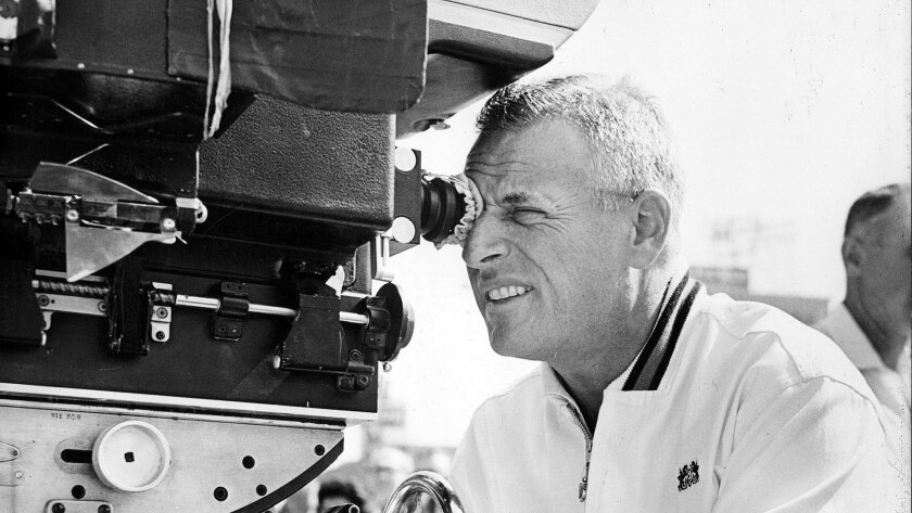 """Stanley Kramer during production of """"It's a Mad, Mad, Mad, Mad World."""""""