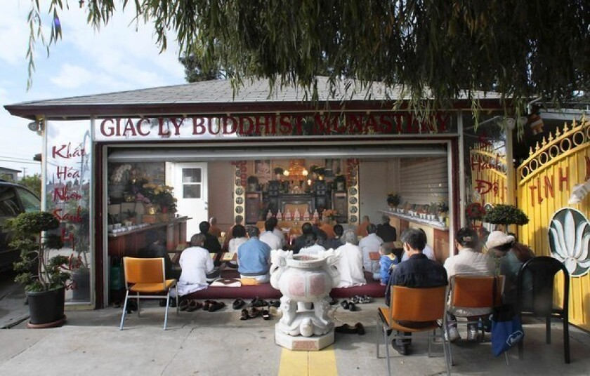 Buddhist temple doesn't always inspire peaceful reactions
