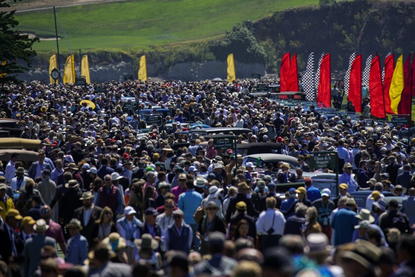 Crowd at 69th Concours d'Elegance at Pebble Beach.