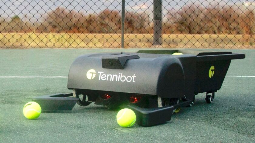 Tennis-ball collector Tennibot is the world's first autonomous tennis ball collector. You need to pr