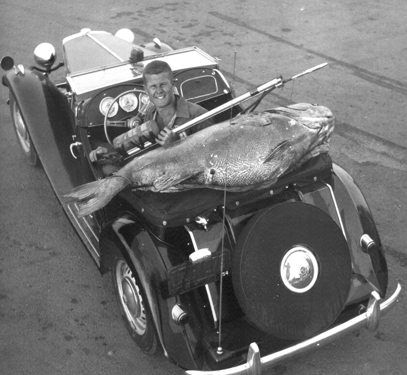 Ron Merker, seen in an undated photo, was a free-dive spearfisherman who held world records for black seabass and bluefin tuna. He co-owned and managed three Aquatic Center dive stores in Orange County, including the longstanding Newport Beach location.