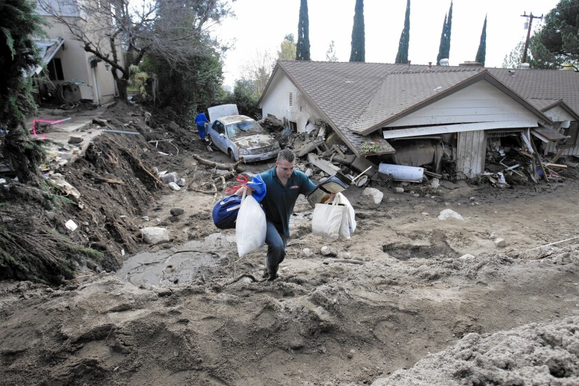 Mudslide in La Cañada Flintridge