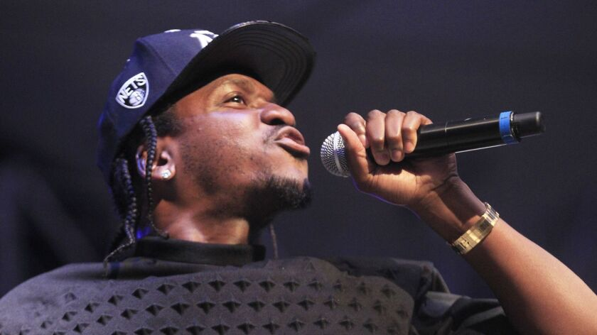 INDIO, CA - APRIL 13, 2013: Pusha T performs at the 2013 Coachella Valley Music & Arts Festival in