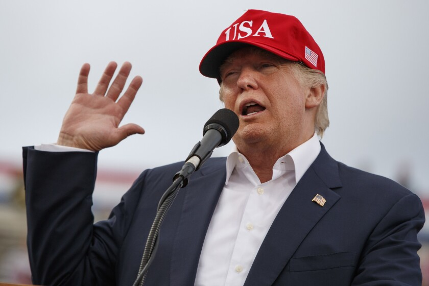 President-elect Donald Trump speaks at a rally at Ladd-Peebles Stadium in Mobile, Ala., on Dec. 17, 2016.