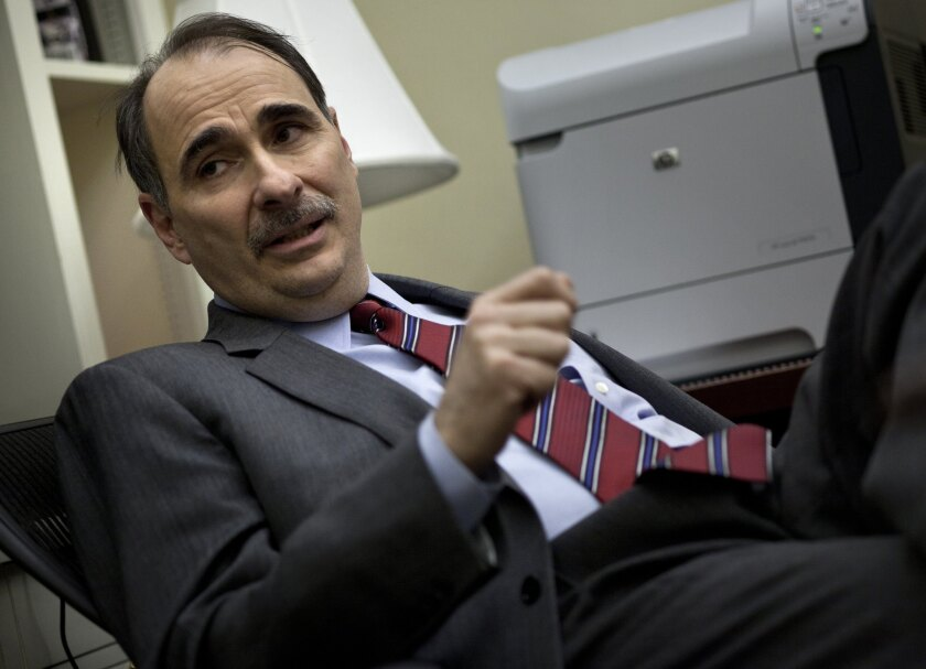 David Axelrod at the White House in 2011, when he still had his mustache.